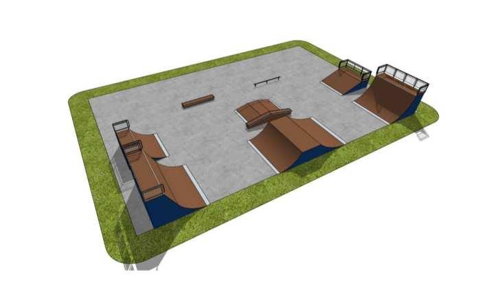 В Касимове строят скейт-площадку под открытым небом