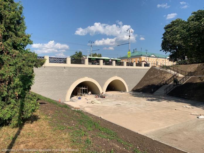 В Рязани завершается реконструкция Астраханского моста на улице Ленина