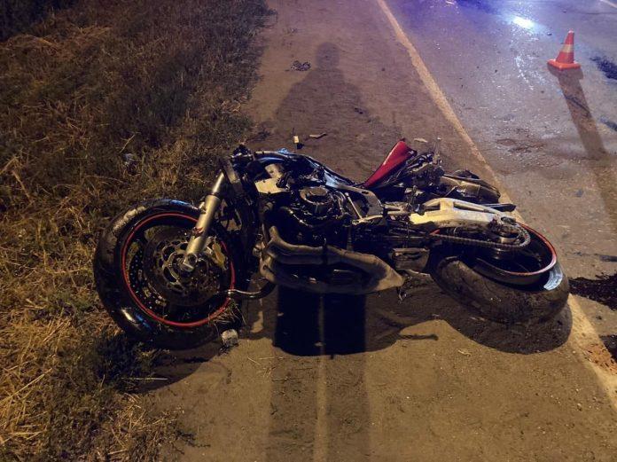 Рано утром в Липецке насмерть разбился 29-летний мотоциклист
