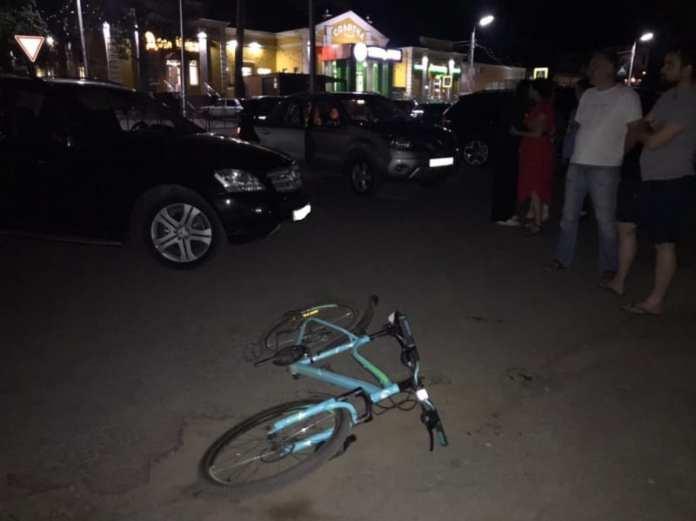 На улице Монастырской в Рязани Mercedes Benz сбил 15-летнего велосипедиста