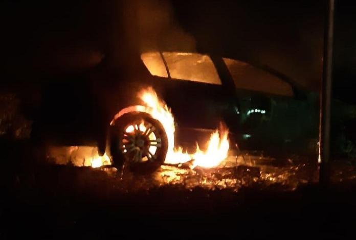 В Клепиковском районе загорелся автомобиль, пассажир в больнице