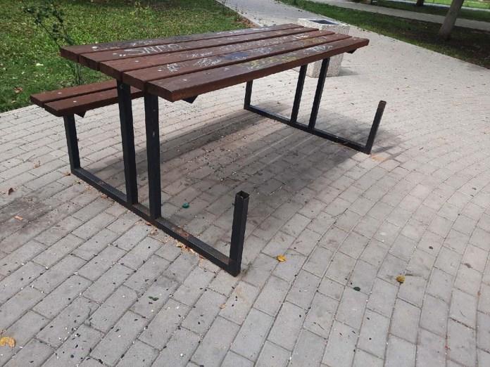 Хулиганы разгромили парк в Новомичуринске