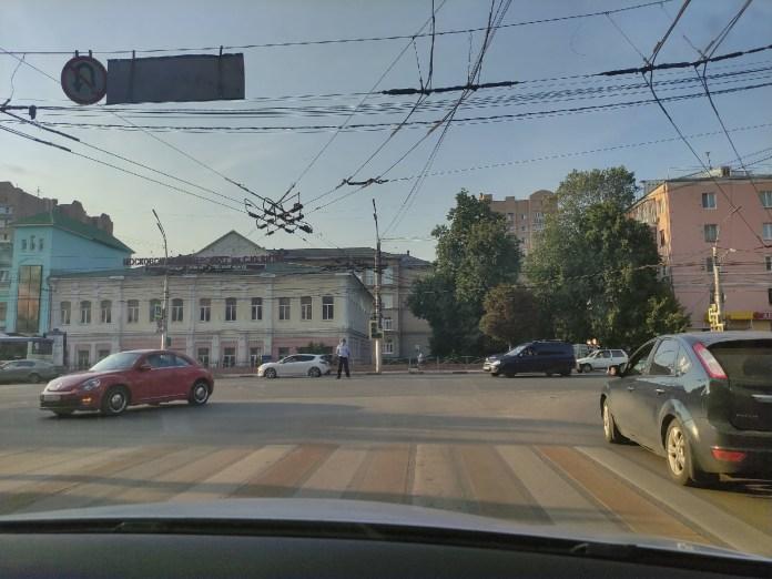В центре Рязани не работает светофор