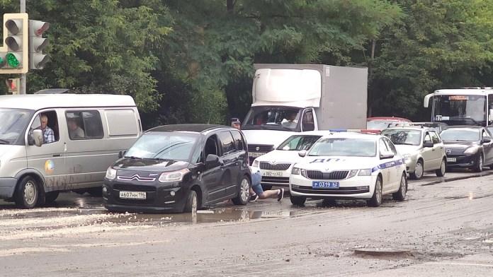 Из-за ДТП в центре Рязани образовалась пробка
