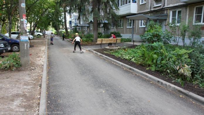 Комиссия приняла ремонт дворов в Московском районе Рязани