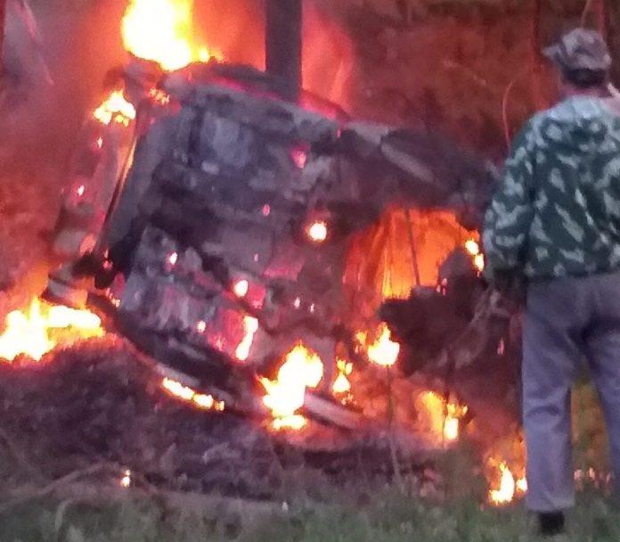 Два человека сгорели в Chevrolet Lanos в Касимовском районе