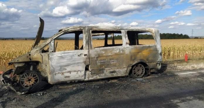 В Пронском районе сгорел рейсовый автобус