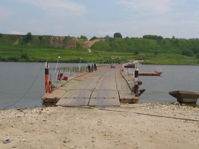В Рязанской области на день закрыли наплавной мост через Оку