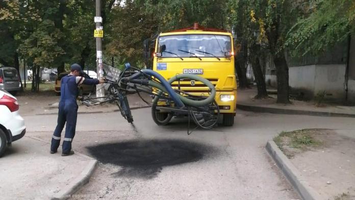В Рязани заделали ямы на девяти участках дорог