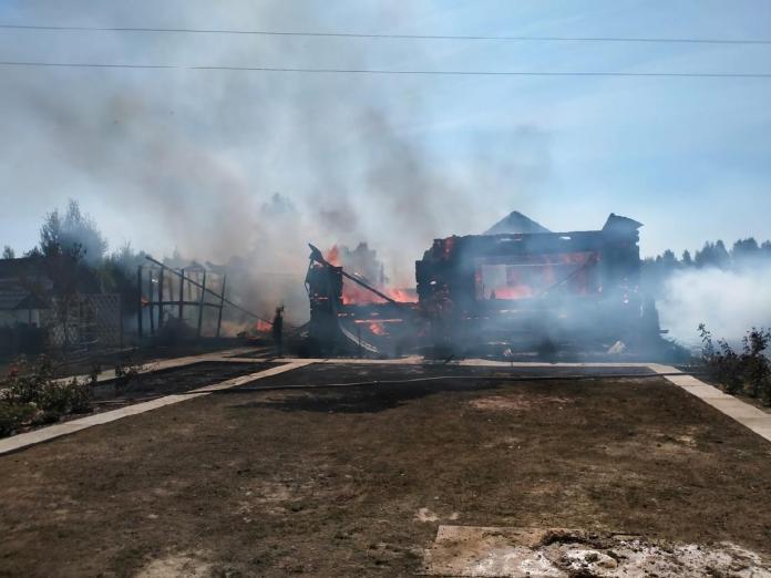 Рязанская семья с 9 детьми осталась без крова из-за пожара