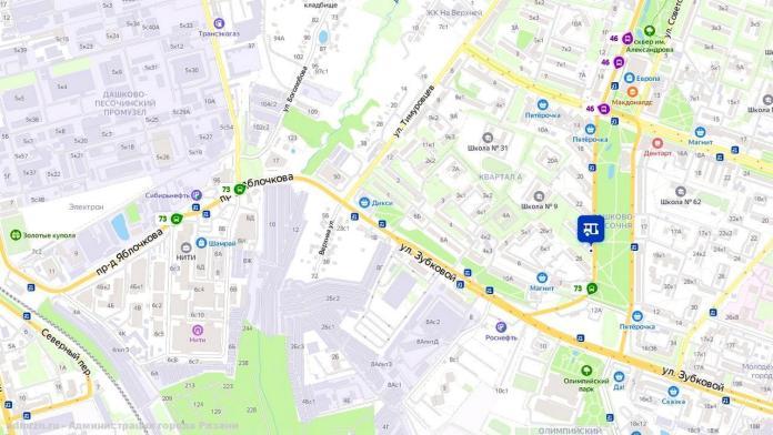 В Рязани вернули левый поворот с проезда Яблочкова в сторону улицы Тимуровцев