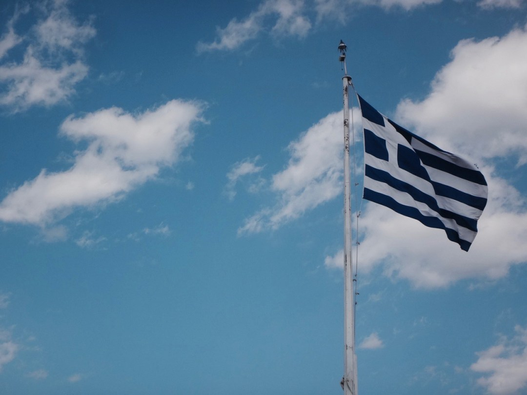 athen griechenland flagge