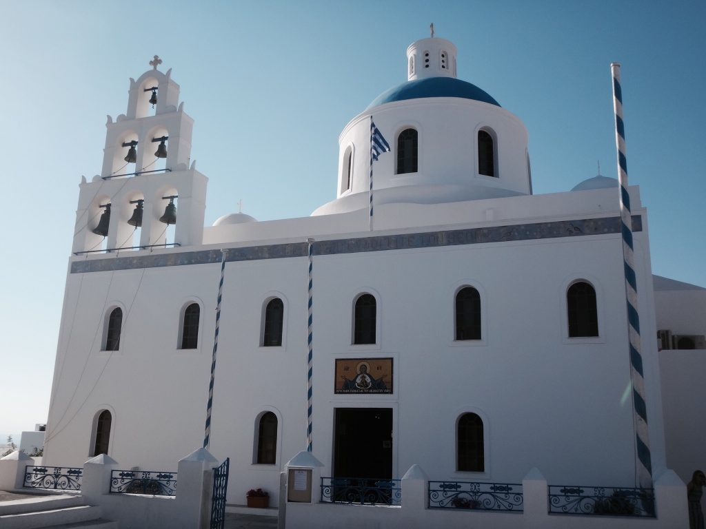 santorini fira oia imerovigli kirche