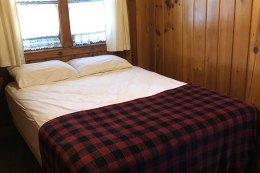 Bedroom in a cabin.