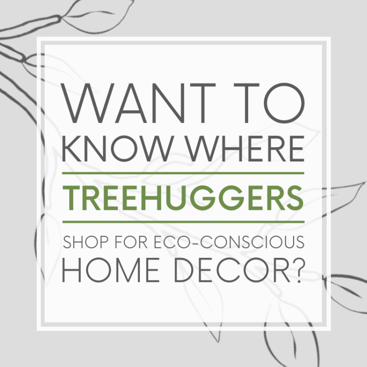 Want to know where treehugggers shop for home decor? Subscribe to the Of Houses and Trees monthly newsletter and I'll send you