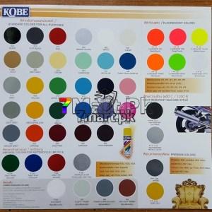 Kobe Acrylic Paint Shade Card