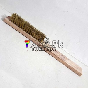 Brush Brass Wire Wooden Body