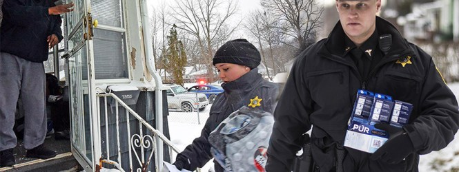 Flint police arrest people who need water