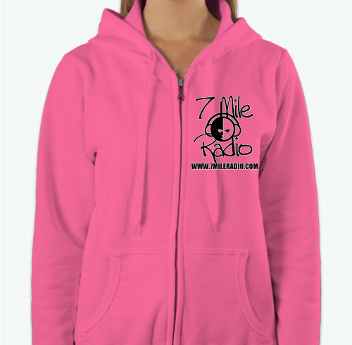 7mile-radio-ladies-zip-hoodie-pink-front