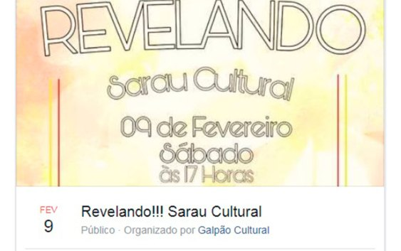 """SARAU CULTURAL e o Projeto """"Revelando"""""""