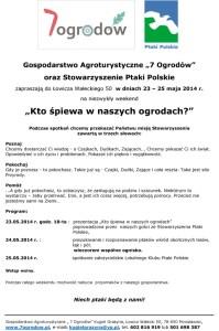 Zaproszenie Ptaki Polskie