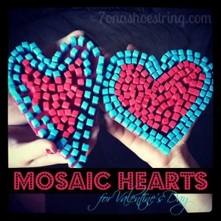 Mosaic Hearts Kid's Craft