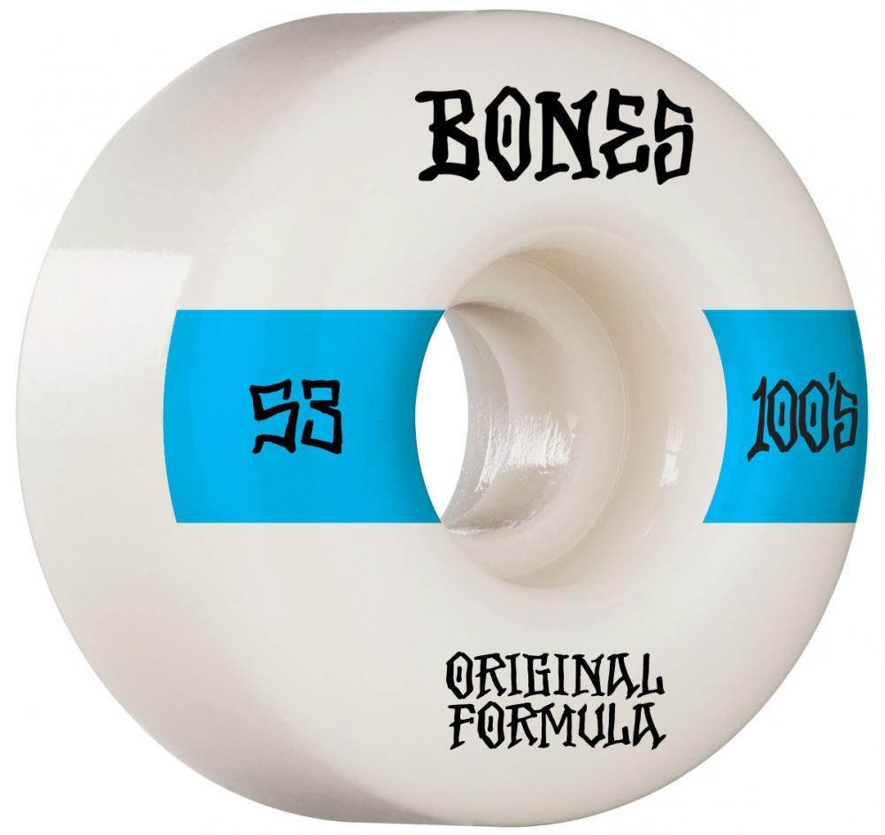 Bones OG 100'S #14 V4 Wide Skateboard Wheels - 53mm