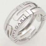 ※送料無料※【ブルガリ】BVLGARI パレンテシリング K18WG(750WG 18金 ホワイトゴールド)指輪 【中古】質屋出品 USED