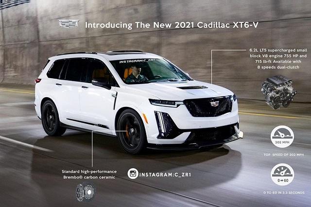 2021 Cadillac XT6-V Render