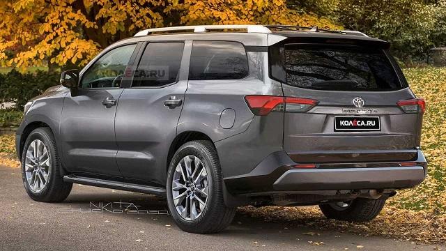 2022 Toyota Sequoia rendering rear