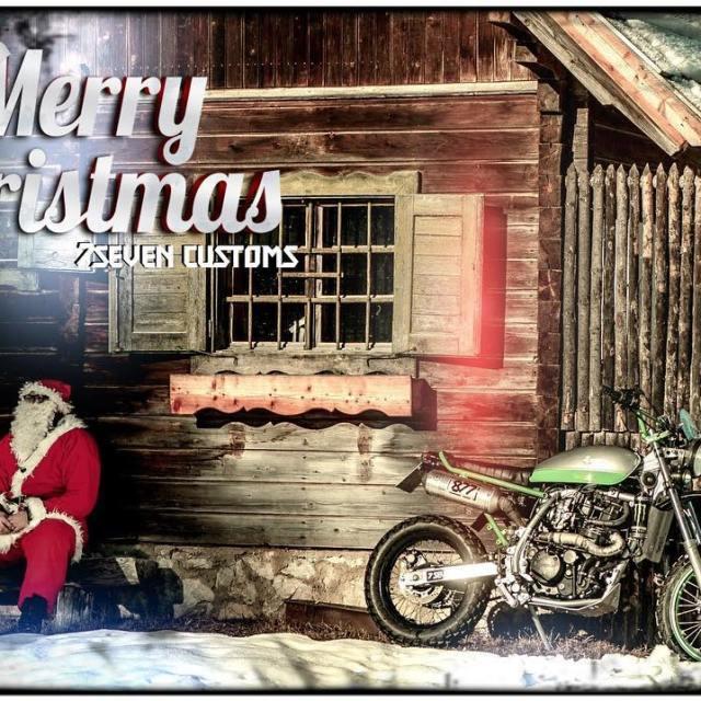 Merry Xmass santa scrambler kawasaki slovenia pokljuka 77 77c 7sevencustomshellip