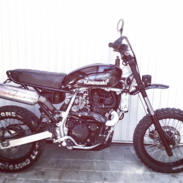 4sale scrambler kawasaki 650 77 77c 7sevencustoms forsale custom motorcyclehellip