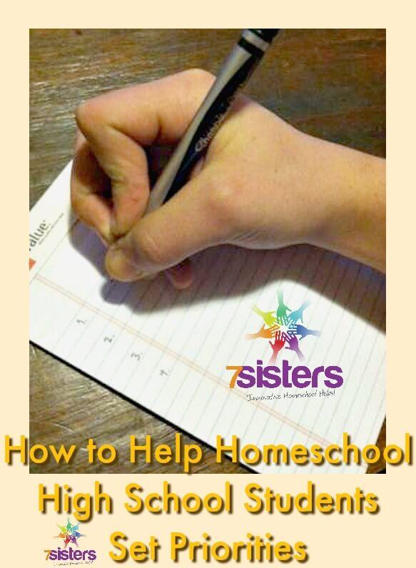 How to Help Homeschool High School Students Set Priorities 7SistersHomeschool.com