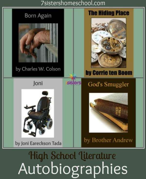 Homeschool High School Literature: Autobiographies 7SistersHomeschool.com Reading autobiographies helps teens grow in wisdom and character.