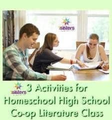 3 Activities for Homeschool High School Co-op Literature Class