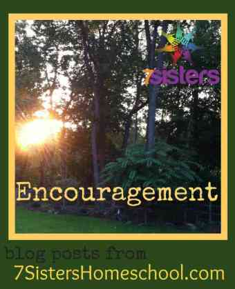 Homeschool Community: Encouraging blog posts from 7SistersHomeschool.com