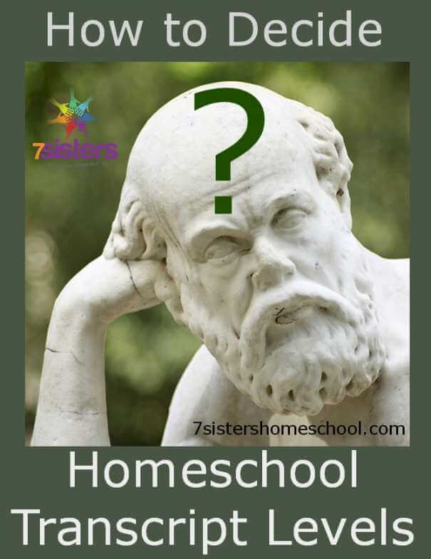 how to decide homeschool transcript levels