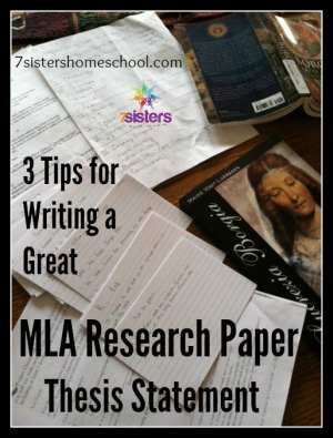 Writing a Great MLA Research Paper Thesis Statement