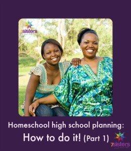 Homeschool high school planning: How to do it! Part 1