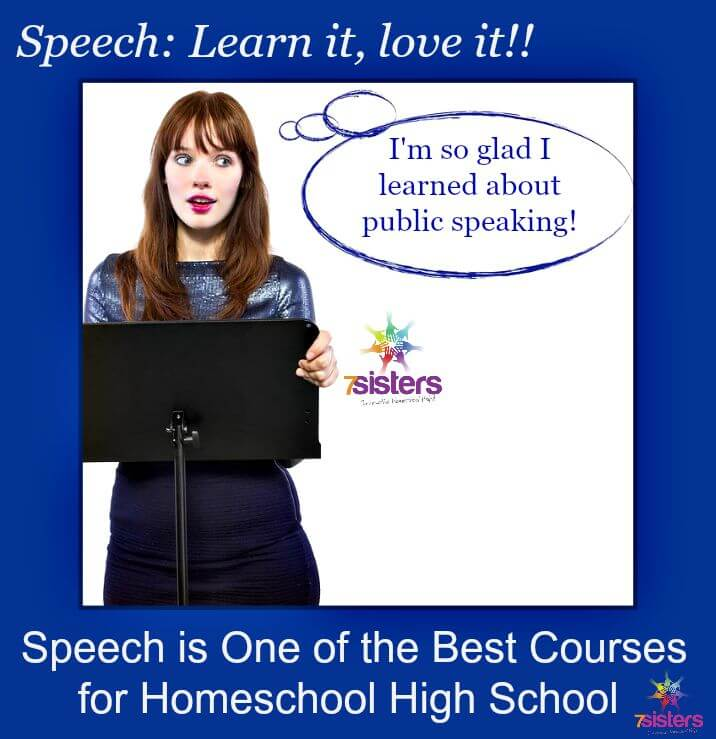 3 Powerful Reasons Why Speech is a Powerful Course for Homeschool High School 7SistersHomeschool.com This post explains 7SistersHomeschool's High School Public Speaking curriculum.