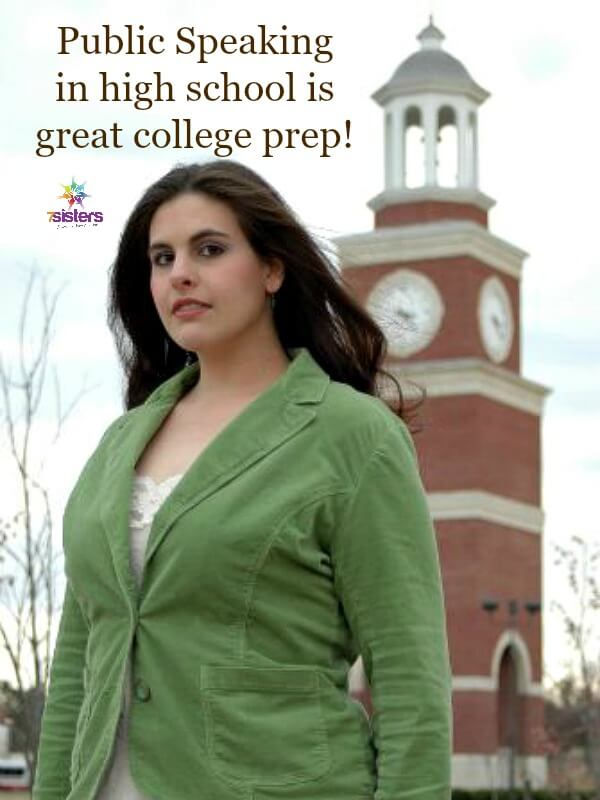 Public Speaking in High School is Great College Prep 7SistersHomeschool.com Homeschool high schoolers are better prepared for college with a Speech curriculum.