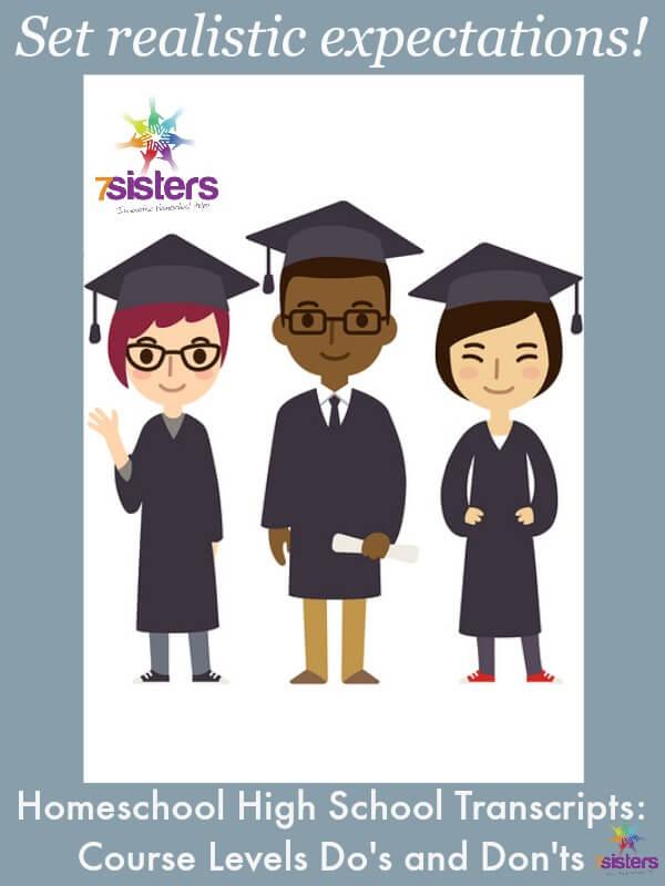 Recording Course Levels on Homeschool High School Transcripts: Do's and Don'ts 7SistersHomeschool.com
