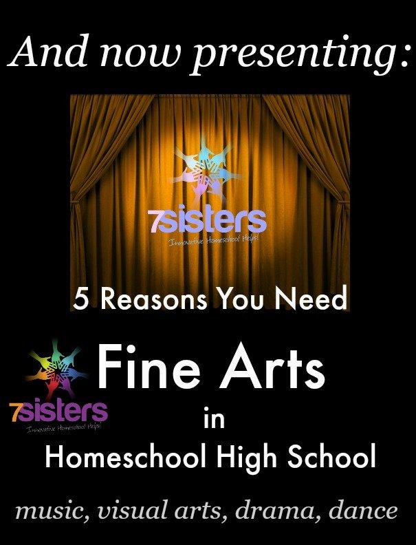 5 Reasons You Need Fine Arts in Homeschool High School