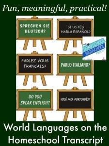 Homeschool Highschool Podcast Episode 21 World Language Credits