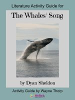 Activity Guide: The Whales' Song Elementary Literature Activity Guide