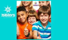 Why Community for Homeschool Families_ 7SistersHomeschool.com #HomeschoolCommunity This photo shows a group of happy kids giving the thumbs up.
