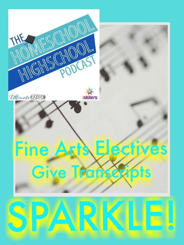 Homeschool Highschool Podcast Ep 75 Fine Arts Electives Make Homeschool Transcript Sparkle