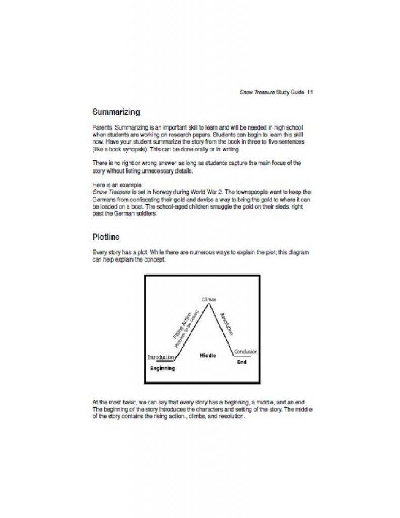 Snow Treasure Literature Guide excerpt 3