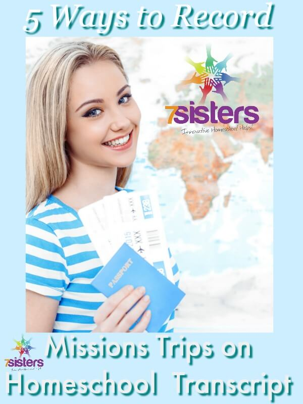 How to Record Missions Trips on Homeschool High School Transcript