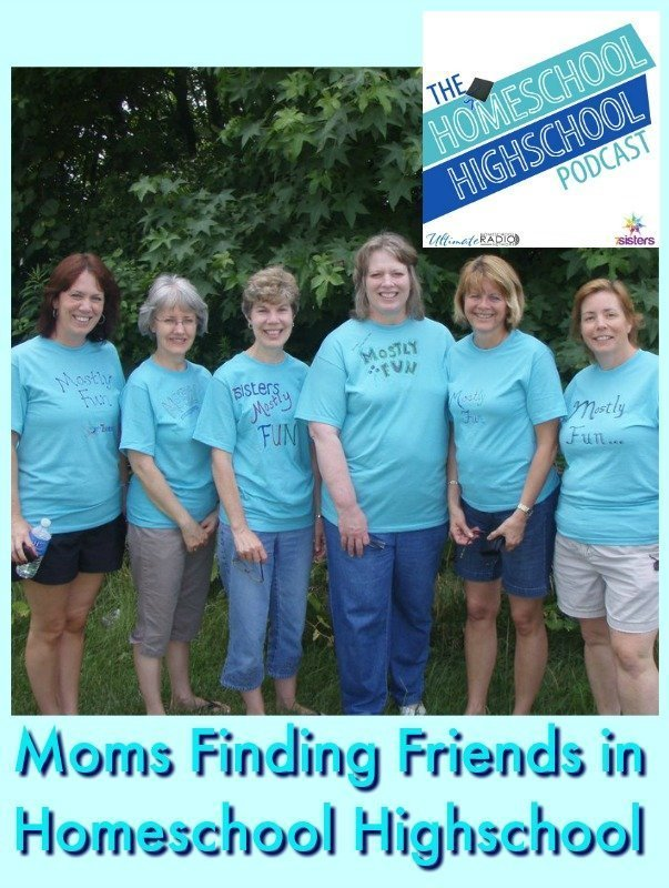 Homeschool Highschool Podcast Ep 84: Finding Mom Friends. Homeschool highschool years can be great times for moms of teens to find friends for themselves.